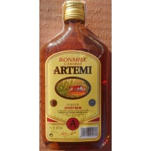 Artemi | Ronmiel Canario Ron Miel Honigrum 350ml 20% Vol. flache Glasflasche (Gran Canaria)