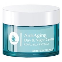 Aloe Excellence | Anti Aging Day & Night Cream Antifalten-Tages- & Nachtcreme 50ml Dose (Gran Canaria)
