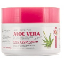Aloe Excellence | Aloe Vera With Mosqueta Rose Oil Regenerative Creme 300ml Dose (Gran Canaria)