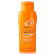 Canarian Suncare | Aloe Vera Sun Lotion SPF 15 Sonnencreme Lichtschutzfaktor 15 200ml (Gran Canaria)