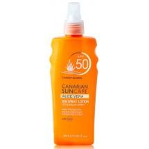 Canarian Suncare | Aloe Vera Sun Spray Lotion SPF 50 Sonnencreme Lichtschutzfaktor 50 200ml (Gran Canaria)