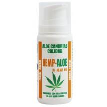Aloe Canarias Calidad | Hemp-Aloe Hanf-Aloe Vera Körpercreme 100ml Spenderflasche (Teneriffa)