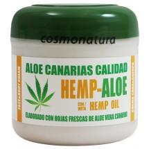 Aloe Canarias Calidad | Hemp-Aloe Hanf-Aloe Vera Körpercreme 300ml Dose (Teneriffa)