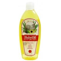 Cosmonatura | Aceite Baby BabyOil Aloe Vera, Uva, Maiz 250ml Quetschflasche (Teneriffa)