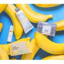 Mussa Canaria | Set Feliz Platano Eco Cumpleanos Seifen, Lippenpflegestift, Handcreme Banane Bio vierteilig (Teneriffa)