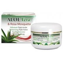 Riu Aloe Vera | Aloe Vera & Rosa Mosqueta Aloe-Hagebutten-Feuchtigkeitscreme 200ml Dose (Gran Canaria)