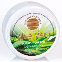 Sublime Canarias | Aloe Vera Manos y Cuerpo Hand- & Körpercreme 200ml Dose (Gran Canaria)