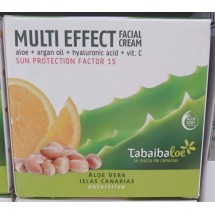 Tabaibaloe | Multi Effect Facial Cream SPF15 Aloe Vera Gesichtscreme Sonnenschutz 100ml (Teneriffa)