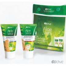 eJove | Aloe Vera Hidratante Para Pies y Rodillas, Manos y Unas 2x50ml Tube Set Beutel (Gran Canaria)