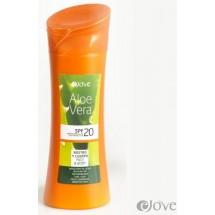 eJove | Aloe Vera Creme Proteccion Solar SPF20 Sonnenschutzcreme 400ml Flasche (Gran Canaria)