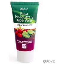 eJove | Rosa Mosqueta y Aloe Vera Rostro Manos y Cuerpo Crema Aloe-Hagebutten-Creme 100ml Tube (Gran Canaria)