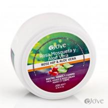 eJove | Rosa Mosqueta y Aloe Vera Rostro Manos y Cuerpo Crema Aloe-Hagebutten-Creme 200ml Dose (Gran Canaria)