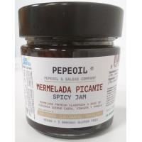 Pepeoil | Mermelada Picante Pimienta scharfe kanarische Chili-Marmelade 5.000 SHU 250g Glas (Gran Canaria)