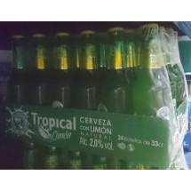 Tropical | Cerveza con Limon Natural Bier Radler 2,0% Vol. 24x 330ml Flasche 24 Stück Stiege (Gran Canaria)