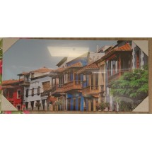 Tablas Ciudad Gran Canaria Alto Semi Brillo Fotobild auf Kunststoffplatte Bild Raumdeko 60x120cm