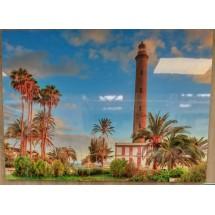 Tablas Faro Meloneras Alto Brillo Hochglanzfoto auf Kunststoffplatte Bild Raumdeko 100x140cm