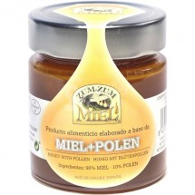 Zum-Zum Miel   Miel + Polen Bienenhonig mit Pollen Glas 340g (Teneriffa)