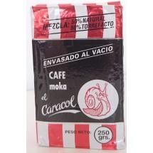 Caracol | Café Moka el Caracol Mezcla 50% natural & 50% torrefacto gemahlener Röstkaffee 250g (Teneriffa)