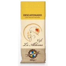 Cafe la Aldeana | Cafe Molido Natural Descafeinado Röstkaffee entkoffeiniert 200g Tüte angebaut auf Gran Canaria