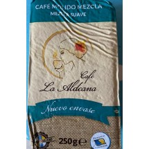 Cafe la Aldeana | Cafe Molido Mezcla Suave 50% Natural 50% Torrefacto gemahlener Röstkaffee 250g Päckchen (Gran Canaria)