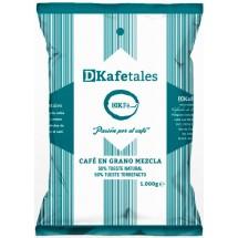 DKafetales | Cafe en Grano Mezcla 50% Tueste natural 50% Tueste Torrefacto gerösteter Bohnenkaffee 1kg (Gran Canaria)