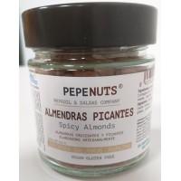Pepeoil | Pepenuts Almendras Picantes gewürzte Mandeln 250g Glas (Gran Canaria)