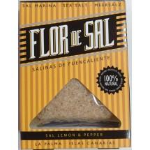 Salinas de Fuencaliente | Flor de Sal Lemon & Pepper kanarisches Aroma-Meersalz Zitrone & Pfeffer 120g (La Palma)