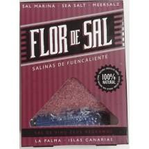 Salinas de Fuencaliente | Flor de Sal Vino Zeus Negramoll kanarisches Aroma-Meersalz Rotwein 120g (La Palma)