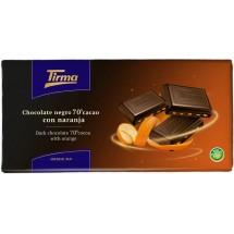 Tirma | Chocolate Negro 70% Cacao con Naranja dunkle Tafelschokolade mit Orange 125g (Gran Canaria)
