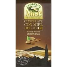 Zum-Zum Miel | Chocolate con Miel de Teide con Almendras Honig-Mandel-Schokolade 150g Tafel (Teneriffa)