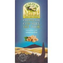 Zum-Zum Miel | Chocolate con Miel de Teide con Anacardos Honig-Schokolade mit Cashewnüsse 150g Tafel produziert auf Teneriffa