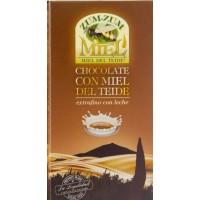 Zum-Zum Miel | Chocolate con Miel de Teide con Leche Honig-Vollmilchschokolade 150g Tafel produziert auf Teneriffa