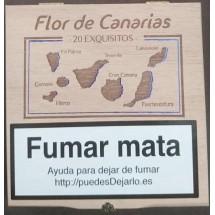 Flor de Canarias | Exquisitos 20 Zigarillos Holzschatulle (Teneriffa)