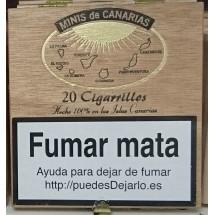 Minis de Canarias | 20 Cigarrillos Zigarillos Holzschachtel (Teneriffa)