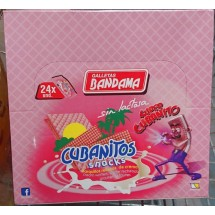 Bandama | Cubanitos Snacks Barquillo Relleno sin lactosa Waffeln mit Cremefüllung laktosefrei 24x 28g 672g (Gran Canaria)