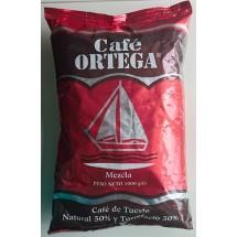Cafe Ortega | Mezcla 50% natural & 50% torrefacto Kaffee ganze Bohnen Tüte 1kg (Gran Canaria)