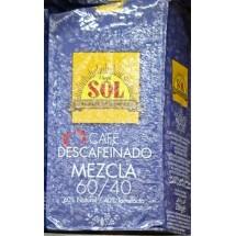 Café Sol   Mezcla molido 60/40 Descafeinado 60% Natural 40% Torrefacto Röstkaffee entkoffeiniert 250g (Gran Canaria)
