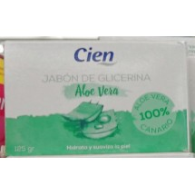 Cien | Jabon De Glicerina Aloe Vera Seife 125g Stück (Teneriffa)