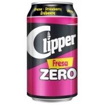 Clipper | Fresa Zero Erdbeer-Limonade zuckerfrei Dose 330ml (Gran Canaria)
