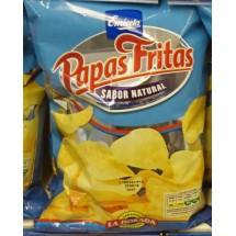 Emicela | Papas Fritas Sabor natural La Dorada Kartoffelchips gesalzen Tüte 165g (Gran Canaria)