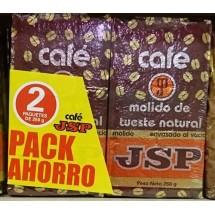 JSP | Cafe Molido de Tueste Natural gemahlener Röstkaffee Karton 2x 250g (Teneriffa)