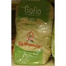 Gofio La Molineta | Cereal de Mezcla Gofio Trigo y Millo Tueste Natural geröstetes Weizen- und Maismehl 1kg (Teneriffa)