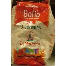 Gofio La Molineta | Gofio de 3 Cereales Doble Tueste Intantil geröstetes Dreikornmehl für Kinder 500g (Teneriffa)