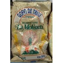 Gofio La Molineta | Gofio de Trigo Doble Tueste Weizenmehl geröstet gesalzen 500g (Teneriffa)