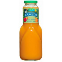 Lambda | Ecologico Mango y Naranja Bio Mango- & Orangen-Saft Glasflasche 1l (Gran Canaria)