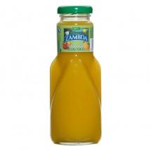 Lambda | Ecologico Mango y Naranja Bio Mango- & Orangen-Saft Glasflasche 250ml (Gran Canaria)