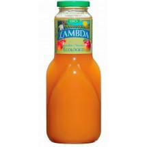 Lambda | Ecologico Melocoton y Manzana Pfirsich-Apfel Bio Saft Glasflasche 1l (Gran Canaria)