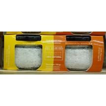 Las Salinas Pozo Izquierdo | Sal Marinas Artesanal Escamas De Sal Marina und Sal Fina Eco Bio Salz 2x75g Glas (Gran Canaria)