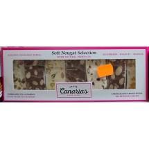 Taste Canarias | Soft Nougat Selection Mandel Pistazien Papaya Blaubeeren Walnuss Erdnuss 7 Riegel 200g (Gran Canaria)